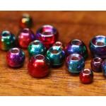 Rainbow Hued Plummeting Tungsten Beads