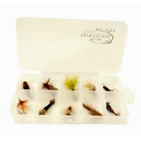 10 Compartment Clear Poly Fly Box