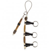 3-Clip Belt Lanyard with Tippet Holder