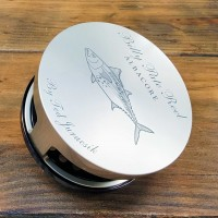BILLY PATE AR TARPON REEL WITH ALBACORE ENGRAVING