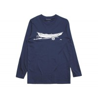 DRIFT LS TECH TEE - NAVY