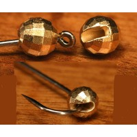 Faceted Slotted Tungsten Beads