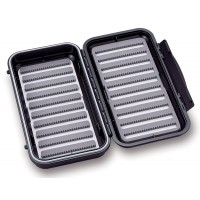 Large 12-Row Waterproof Fly Box with Flip Page
