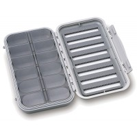 Large 8-Row Waterproof Fly Box with 12 Compartments