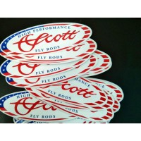 Scott American Flag Oval Sticker