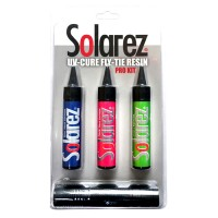 Solarez Pro Kit 3 1oz Packs of Resins Plus UV Light