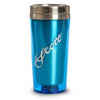 Travel Mug with Silver Scott Logo