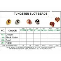 TUNGSTEN SLOT BEADS 10pk