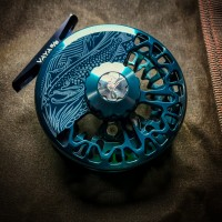 "VAYA SERIES FLY REEL CUSTOM UNDERWOOD'S ""ON THE HUNT"" DESIGN"