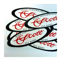 "Scott Oval Sticker 6""x 2"""